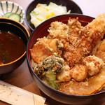 天ぷら ひさご - 冬の味覚天丼