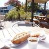 マナレイア - 料理写真:テラス風景を入れた、今日の朝食です