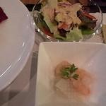 グリル アンドウ - ランチ、小鉢とサラダ