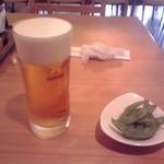 いなりや - 生ビール550円也(2013/11)