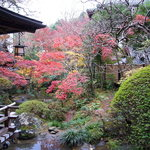 新井旅館 - 館内庭を臨む