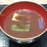 京都 つる家 茶房 - 生麩ぜんざい(2013年10月)