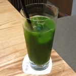 京都 つる家 茶房 - アイスグリーンティー(ドリンクセットで\420、2013年10月)