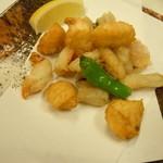 湯浅港 - 揚げ物680円♪この日は小魚の揚げ物です♪