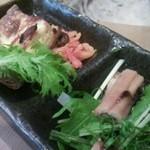22476712 - ベーコンキッシュ・煮穴子の前菜