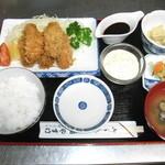 やすけ鮨 - 牡蠣フライ定食