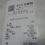 無添くら寿司 - レシート(2013.11.09)