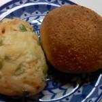 フラン ブラン - 枝豆チーズ と 焼きカレーパン