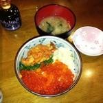 小樽ポセイ丼 - 二色丼 1600円