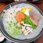 22489067 - 陶板焼(飛騨牛味噌陶板焼定食)