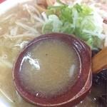 22490603 - もやしラーメン650円(味噌)スープアップ!
