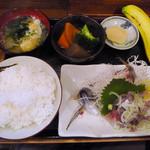 弁慶 - アジたたき定食