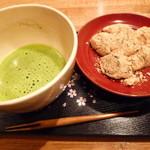 七つの海 - 「わらび餅と抹茶のセット(900円)」
