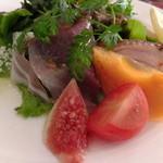 アスティ - ランチB:1500円前菜盛り合わせ:いちじくと柿も美味しいの!