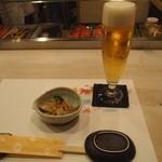 鮨西光 - スタートはもちろん生ビール