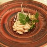 鮨西光 - タチ(真鱈の白子)、イサキ、海老芋