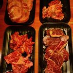 七輪焼肉 安安 - 肉4種類