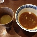 麺屋はやしまる - スープ割り