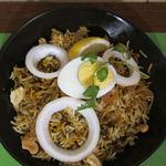 南インド家庭料理 インダスレイ - マトンビリヤニ