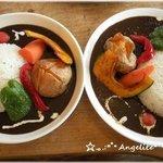 ニセコ・アワグラス - NISEKO hourglass 『収穫菜カレー』小盛りと普通盛り