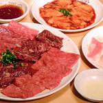 炭火焼肉 かんてき - 料理写真:焼肉セット(5品) 3000円  ロース、カルビ、ハラミ、テッチャン、トントロ