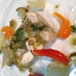 オステリア リュカ - 大山鶏   軟骨  九条葱のゼリー寄せ