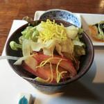 中吉 - Cランチ(2100円)_サラダ_2013-11-03