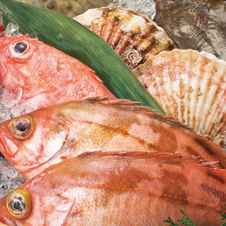 北海道の漁港より新鮮魚介を直送、北海道各ファームより野菜直送