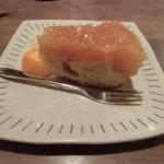 カフェ箱庭 - ケーキセット(バターケーキのタルトタタン)¥680