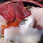 松島さかな市場 - 松島さかな市場 @松島 刺身類は折たためられていてすごく大きいです