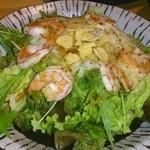 22508690 - 最初に頂いた山芋とエビのとろとろサラダでこのお店美味しい♪って思った。