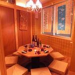 かんどころ - 人気の円卓個室。早めのご予約がおすすめです。