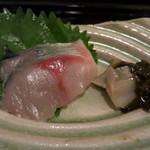つむぎや - 関鯖と蝦夷鮑