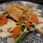 つむぎや - キノコと水菜のサラダ