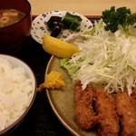 まんじ - カキフライ 今年初 2013.11