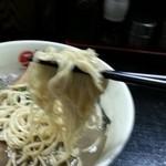 最凶煮干そば 獣煮使 - 最凶煮干しそば 大 麺リフト 2013.11