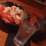 22518198 - 美味トマトとズワイガニサラダ1580円(写真は半分の量)