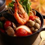 たっぷり魚介の韓国風トマト鍋 ※1人前