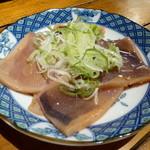 魚正宗 - お通しのイカ焼