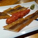 魚正宗 - 自家製スモーク(穴子とタラコ)