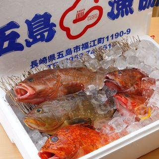 田町では唯一。日本有数の漁場直送の鮮魚。