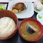 沖あがり食堂 - 沖あがり食堂@堂ヶ島 あわびステーキ定食