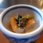 幸之助 - 料理写真:厚揚げのおひたし(かつおの風味高く)