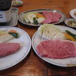 池田ファーム - ミスジ(メニュー外)、サーロイン、お特上カルビ,脂のりのりホルモン