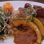 カフェ ソラ - ベジタブルカレー:ライスは玄米をチョイス