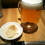 元祖 平壌冷麺屋 - ビール+アテ
