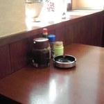 キクヤレストラン - 卓上の様子