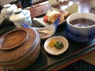 割烹 ともゑ - 蓮根の挟み揚げがメインの日替わり定食650円