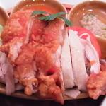 シンガポール海南鶏飯 - ハーフ&ハーフ(白鶏だけ大盛+200)
