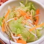シンガポール海南鶏飯 - ランチセットのサラダ